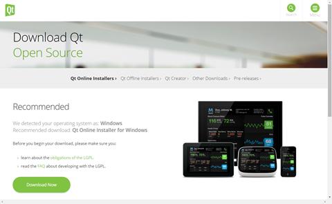 Download QtOpen Sourceページ